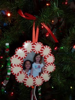 Peppermint wreath ornament craft