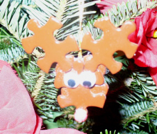 Puzzle Piece Reindeer Christmas ornament