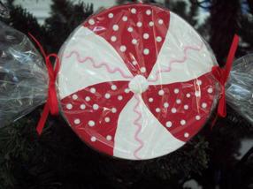 Peppermint Christmas Ornament Craft