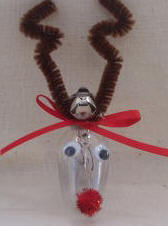 Christmas ornament craft Lightbulb reindeer