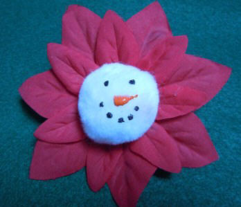 Snowman Poinsettia Ornament craft
