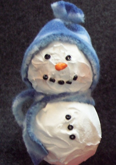 Styrofoam Snowman ornament craft project
