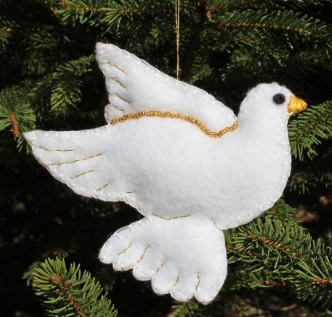 Dove Christmas ornament craft