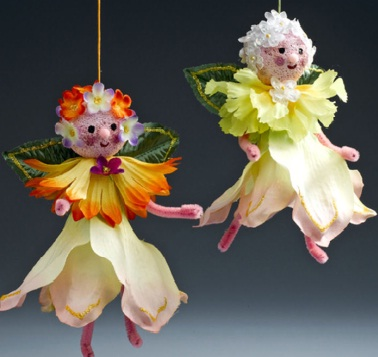 Fairy Crafts Silk Flowers http://www.christmasdecorationcrafts.com/Christmas_Ornaments_2.html