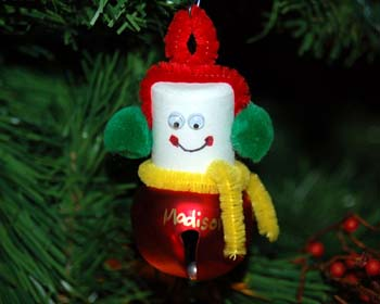 Jingle bell snowman craft