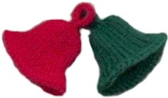 Christmas ornament craft ideas for Knitted christmas bells