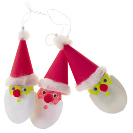 Santa Lollipop Ornaments
