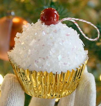 cupcake Christms ornament craft